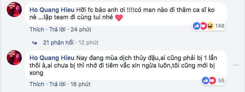 Bảo Anh nhập viện vì thủy đậu, Hồ Quang Hiếu không chỉ lên tiếng động viên mà còn rủ fan cùng đến thăm tình cũ-2