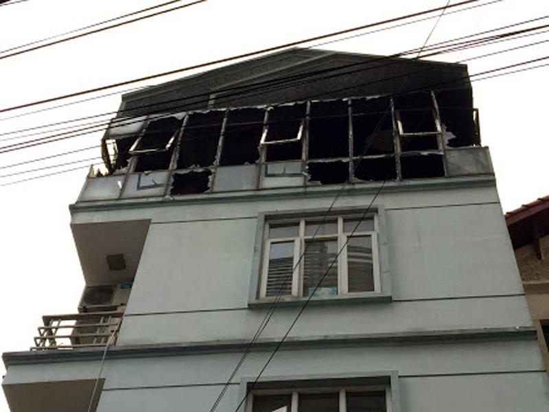 Hà Nội: Cháy trường mầm non giữa trưa, cô trò bỏ chạy-1