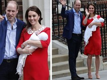 Chỉ vài tiếng sau sinh, hoàng tử nhí nước Anh lần đầu tiên xuất hiện trước công chúng bên bố mẹ