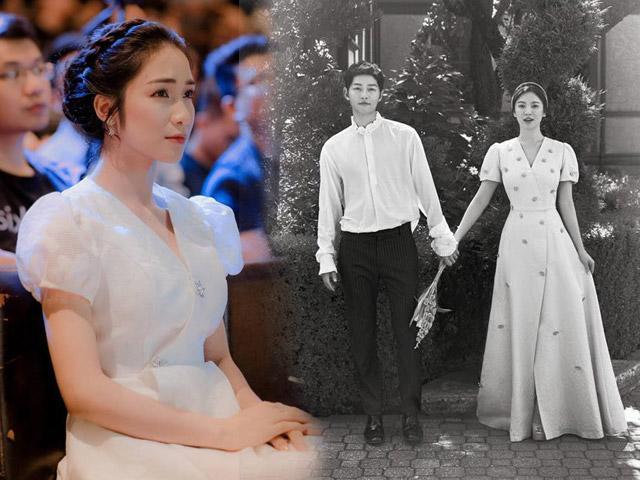 Sự thật chuyện Hoà Minzy mặc thiết kế nhái từ váy cưới của Song Hye Kyo-2