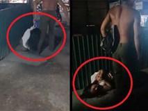 Người đàn ông đánh dã man 1 phụ nữ rồi lấy dây cột cổ lôi đi ở Vĩnh Long