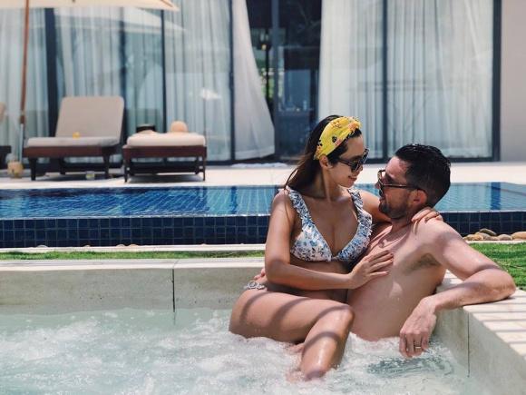 Siêu mẫu Hà Anh bụng bầu 8 tháng vẫn tự tin diện bikini gợi cảm-6