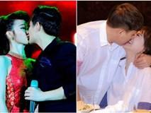 Vô tư ôm hôn thắm thiết chốn đông người, các cặp đôi sao Việt này từng khiến nhiều fan phải đỏ mặt