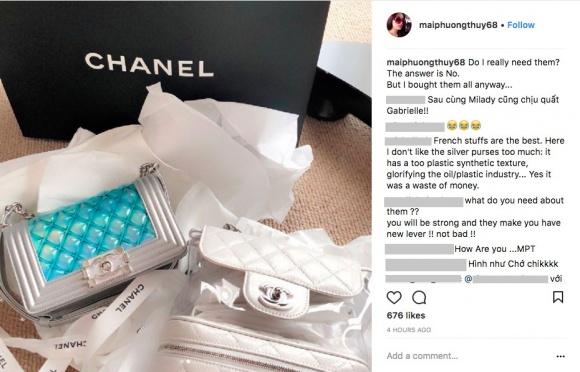 Mai Phương Thuý chịu chơi khi bỏ hơn 300 triệu để tậu 3 chiếc túi Chanel-1