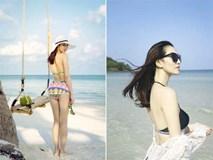 Khánh My gợi cảm khi diện bikini khoe dáng thon trên bãi biển