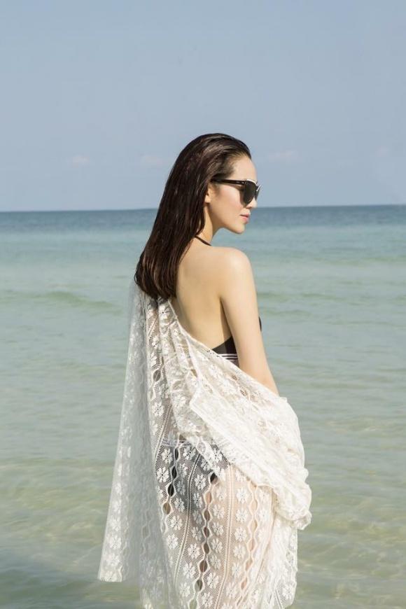 Khánh My gợi cảm khi diện bikini khoe dáng thon trên bãi biển-3
