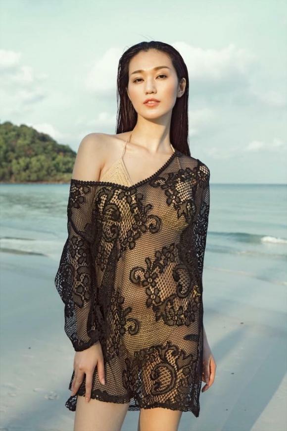 Khánh My gợi cảm khi diện bikini khoe dáng thon trên bãi biển-8