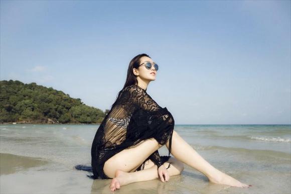 Khánh My gợi cảm khi diện bikini khoe dáng thon trên bãi biển-9