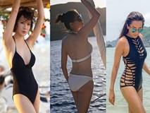Mỹ nhân Vbiz U40, 50 thả dáng sexy với bikini: Nhìn Hoa hậu Hà Kiều Anh đã sốc...