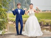 Chùm ảnh cưới chất: Khi chú rể cơ bắp nhưng cứ thích mặc thử váy cô dâu