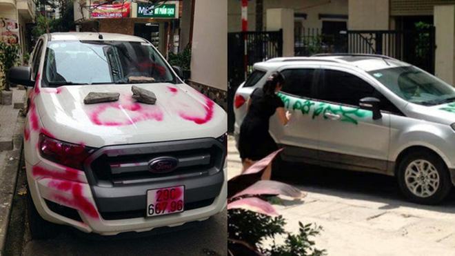 Vừa chạy đi 5 phút để gọi bạn gái, quay về đã thấy ô tô bị tặng chai mắm tôm pha sơn đen-2