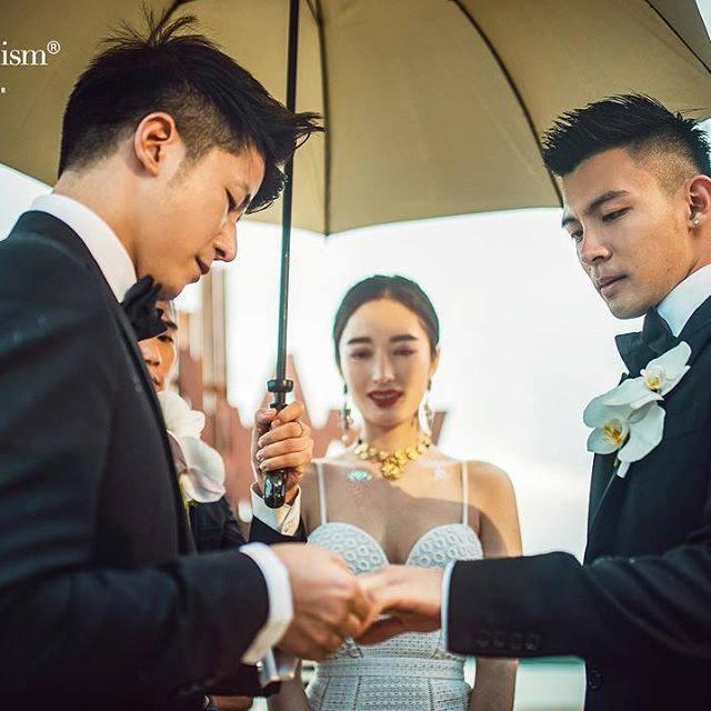 Cặp trai đẹp tung ảnh đám cưới thần sầu hơn cả phim khiến dân mạng lịm tim-3