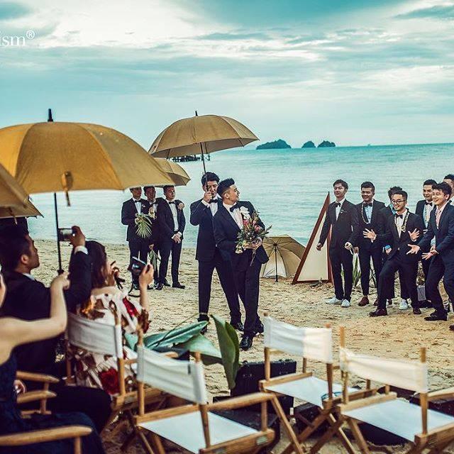 Cặp trai đẹp tung ảnh đám cưới thần sầu hơn cả phim khiến dân mạng lịm tim-4