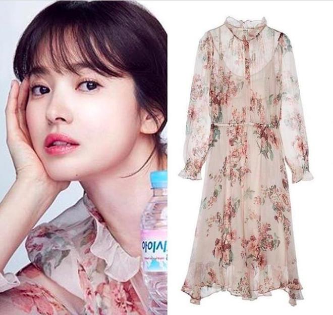 Cơn sốt của chiếc váy hoa quốc dân: Đến cả Song Hye Kyo cũng chọn mặc để đóng quảng cáo đây này!-3