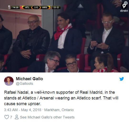 Cổ vũ Atletico, Rafael Nadal bị fan Real gọi là rắn độc-6