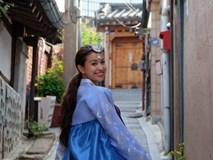 Vân Hugo xinh như gái Hàn khi mặc Hanbok