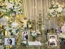 Khung cảnh sang trọng, ngập tràn sắc hoa bên trong tiệc cưới