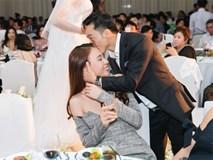 Cường Đô la công khai hôn Đàm Thu Trang trước hàng trăm ánh mắt