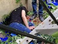 Ngồi uống trà đá ở Thái Hà, hai thanh niên bị thang vận rơi trúng