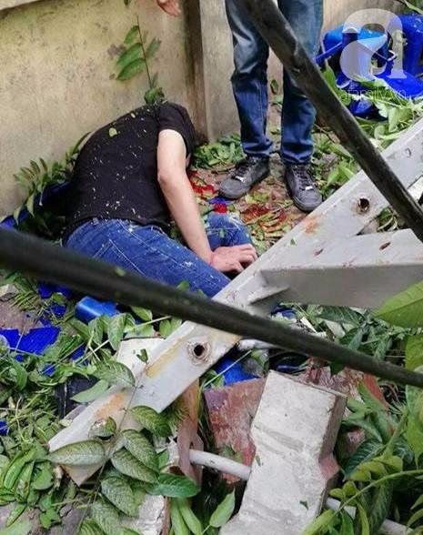 Ngồi uống trà đá ở Thái Hà, hai thanh niên bị thang vận rơi trúng-4