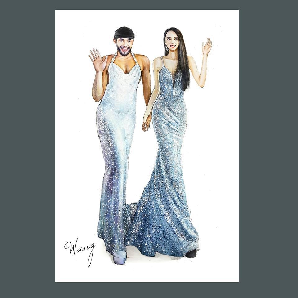 Cuộc chạm trán váy dạ hội mới nhất thuộc về 2 Hoa hậu đình đám, Mỹ Linh và Hương Giang-3