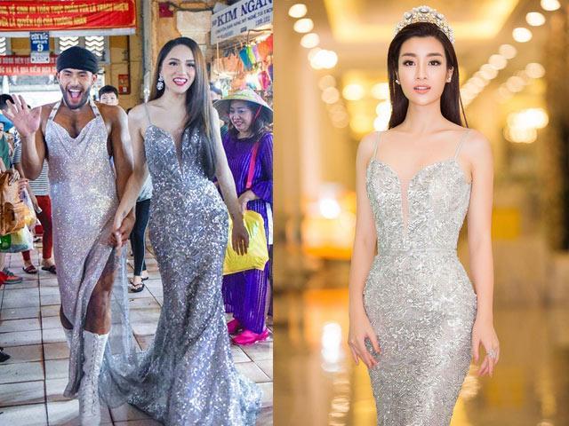 Cuộc chạm trán váy dạ hội mới nhất thuộc về 2 Hoa hậu đình đám, Mỹ Linh và Hương Giang-4
