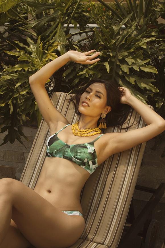 Á hậu Nguyễn Loan đầy nóng bỏng với bikini chào hè 2018-9