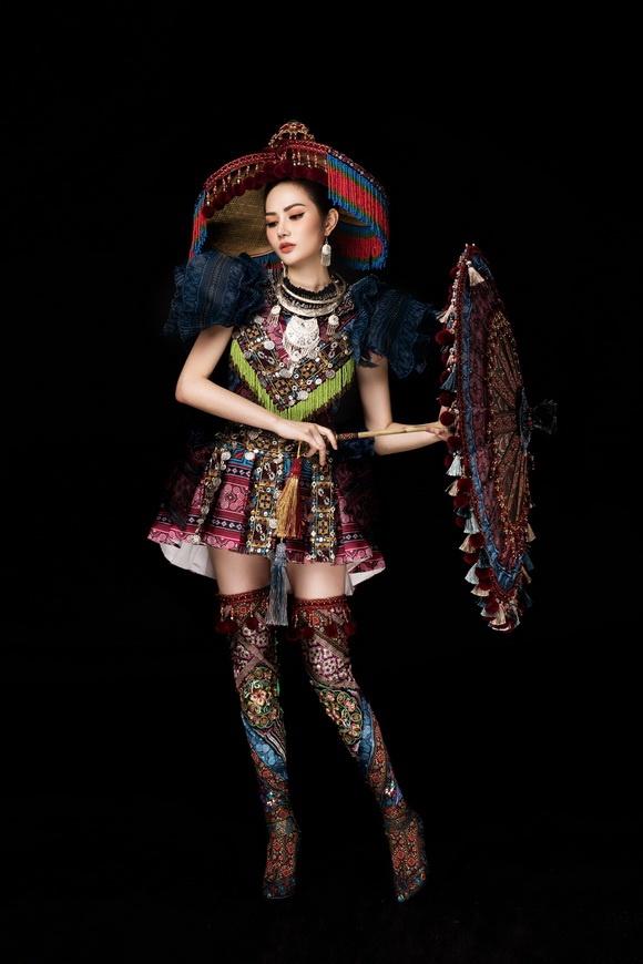 Diệu Linh chọn trang phục H'Mông thể hiện tại Nữ hoàng Du lịch Quốc tế 2018-12