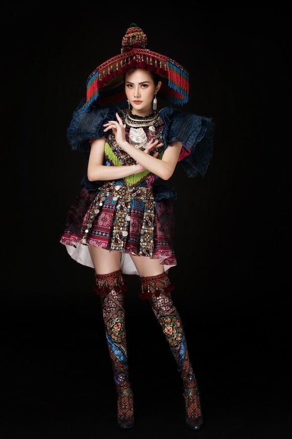 Diệu Linh chọn trang phục H'Mông thể hiện tại Nữ hoàng Du lịch Quốc tế 2018-6