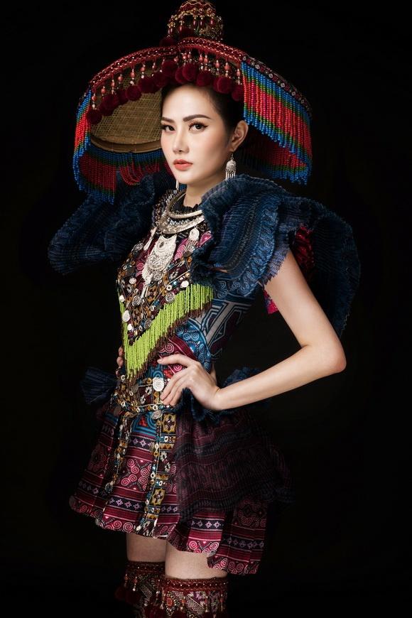 Diệu Linh chọn trang phục H'Mông thể hiện tại Nữ hoàng Du lịch Quốc tế 2018-7