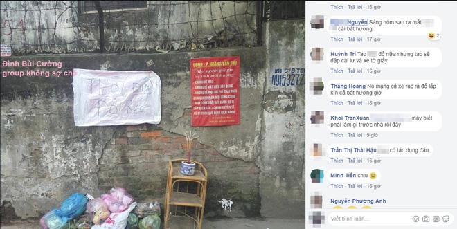 Mang rác đi đổ trộm nhìn thấy tấm biển thông báo, nhiều người chột dạ cúi mặt bỏ đi-1