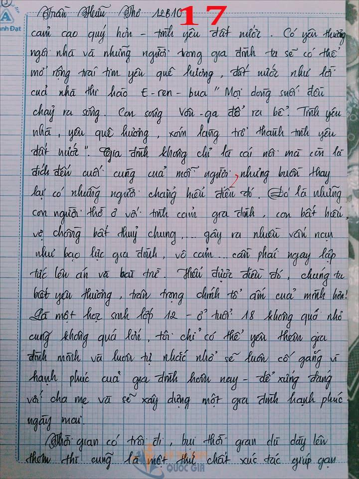 Bài văn 9,5 điểm về tình cảm gia đình khiến cô giáo phải thốt lên: Mọi ngôn từ đều trở nên bất lực!-17
