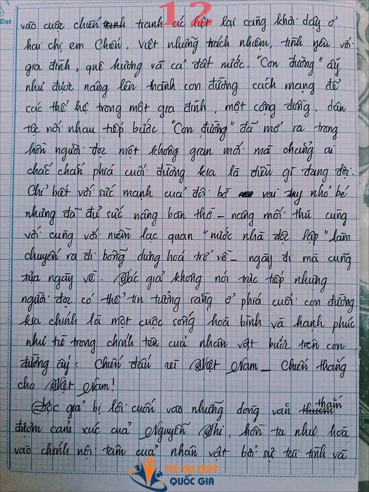 Bài văn 9,5 điểm về tình cảm gia đình khiến cô giáo phải thốt lên: Mọi ngôn từ đều trở nên bất lực!-12
