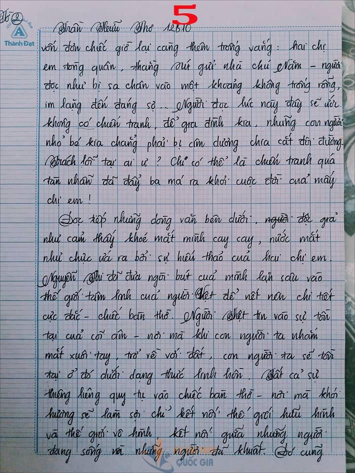 Bài văn 9,5 điểm về tình cảm gia đình khiến cô giáo phải thốt lên: Mọi ngôn từ đều trở nên bất lực!-5