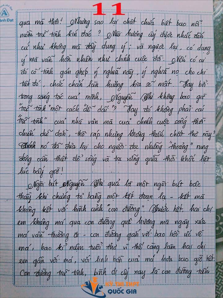 Bài văn 9,5 điểm về tình cảm gia đình khiến cô giáo phải thốt lên: Mọi ngôn từ đều trở nên bất lực!-11