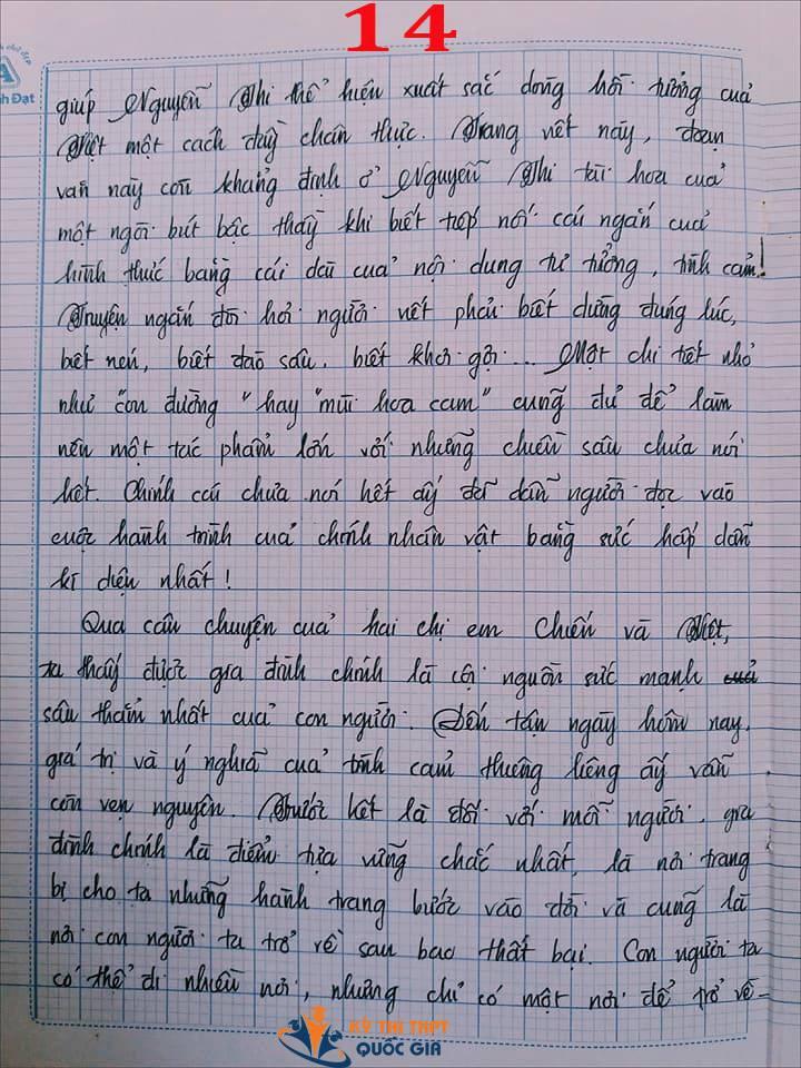 Bài văn 9,5 điểm về tình cảm gia đình khiến cô giáo phải thốt lên: Mọi ngôn từ đều trở nên bất lực!-14