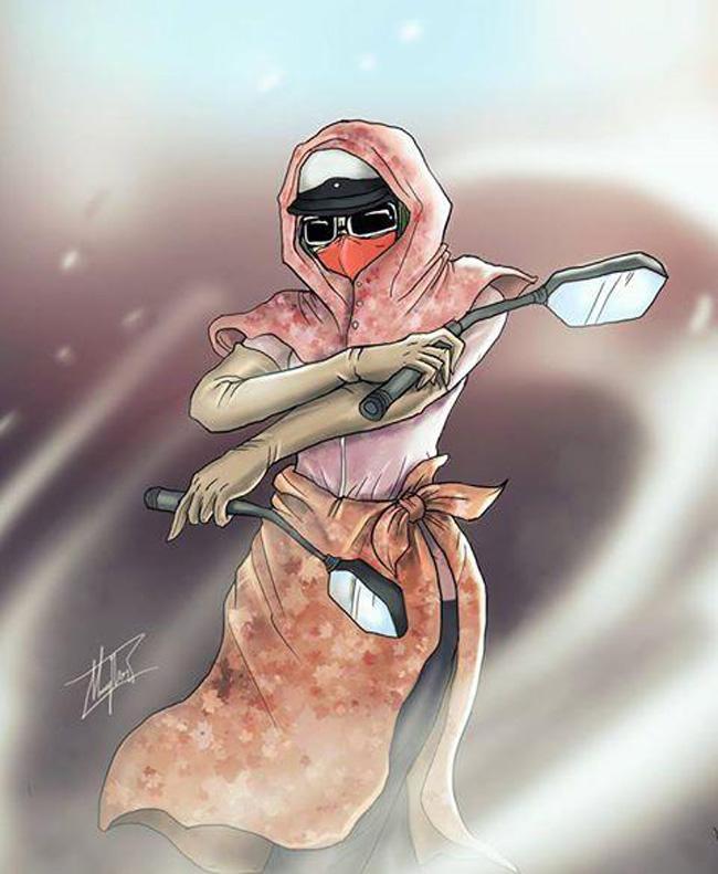 Ninja khoe sắc xuân mơn mởn trong bộ sưu tập áo chống nắng sặc sỡ-1