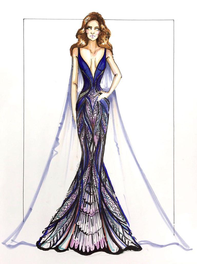 Bộ đầm hoa hậu đẹp nhất thế giới mặc tại Cannes có gì đặc biệt?-3