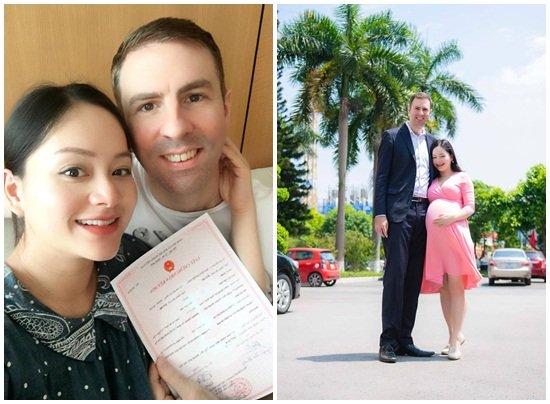 Diễn viên Lan Phương đăng ký kết hôn với bạn trai Tây cao 2m-1