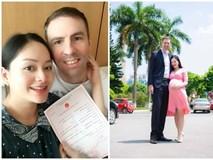 Diễn viên Lan Phương đăng ký kết hôn với bạn trai Tây cao 2m