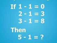 1 - 1 = 0 vậy 5 - 1 bằng bao nhiêu?