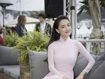 Nhã Phương xuất hiện nhẹ nhàng, đằm thắm với tà áo dài truyền thống tại Cannes