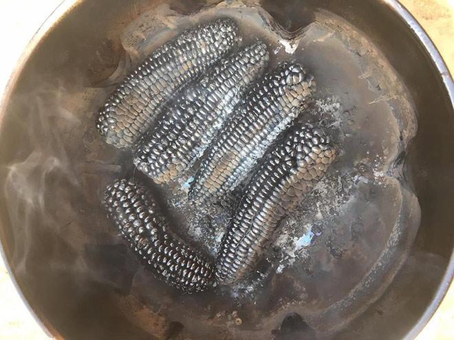 Món ngô luộc phiên bản Ngọc Trinh quên mang kem chống nắng chao đảo dân mạng-2