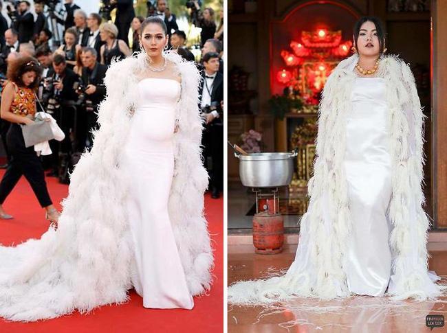 Cô nàng mang cả chục kg sầu riêng chỉ để nhại chiếc váy của sao-9