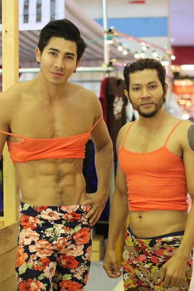 Thời trang bồi bàn cười ra nước mắt của trai đẹp 6 múi Thái Lan-2