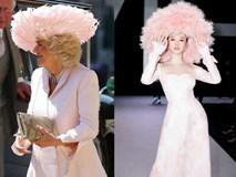 Nhìn nữ công tước diện nguyên cây hồng với mũ lông này mà nghĩ ngay đến Angela Phương Trinh