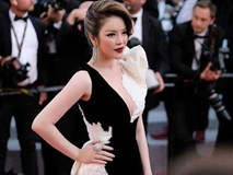 """Lý Nhã Kỳ """"tạm biệt"""" thảm đỏ Cannes bằng một bộ đầm đen trắng huyền bí"""