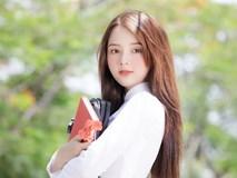 """""""Hot girl ảnh thẻ"""" Hương Lê diện áo dài trắng nhớ thuở học trò"""