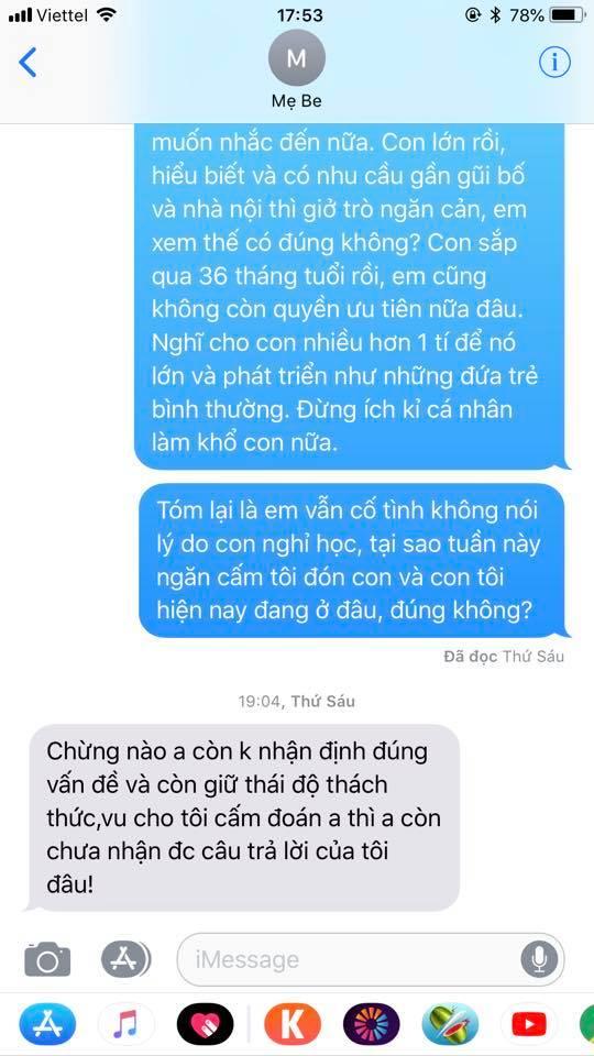 Chí Nhân tung đoạn tin nhắn với vợ cũ sau khi không gặp được con vì có người cố tình giấu đi-3