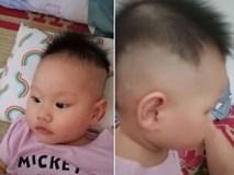 Mẹ chỉ chợp mắt nửa tiếng, bố đã tranh thủ tạo kiểu tóc cho cô công chúa để bắt kịp xu hướng của
